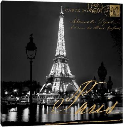 Paris At Night Canvas Art Print