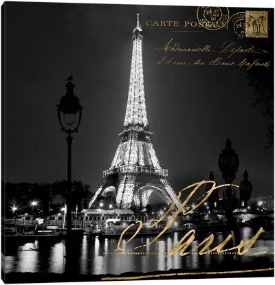 Paris At Night Canvas Art Print