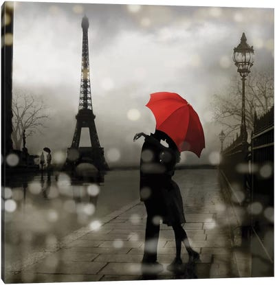 Paris Romance Canvas Art Print