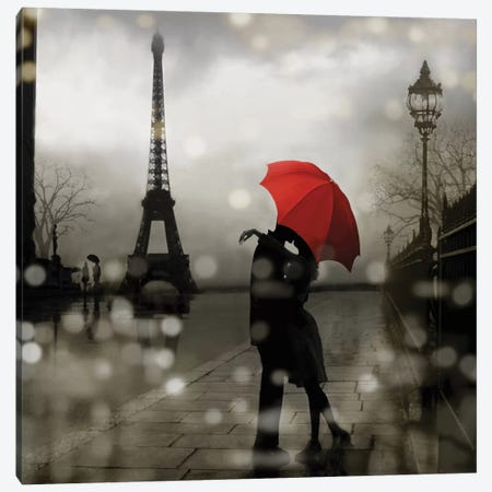 Paris Romance Canvas Print #KAC43} by Kate Carrigan Canvas Wall Art