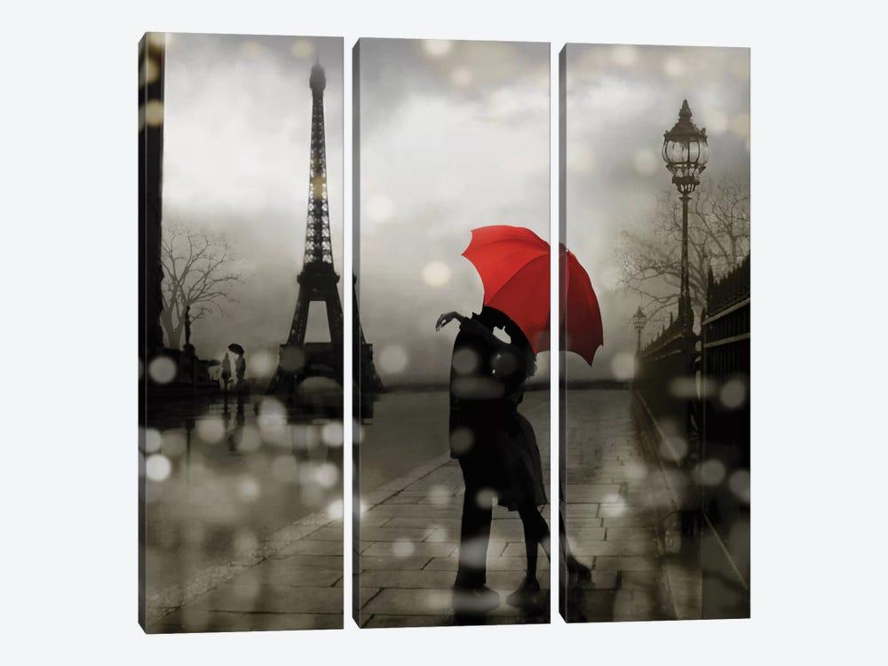Paris Romance by Kate Carrigan 3-piece Canvas Print