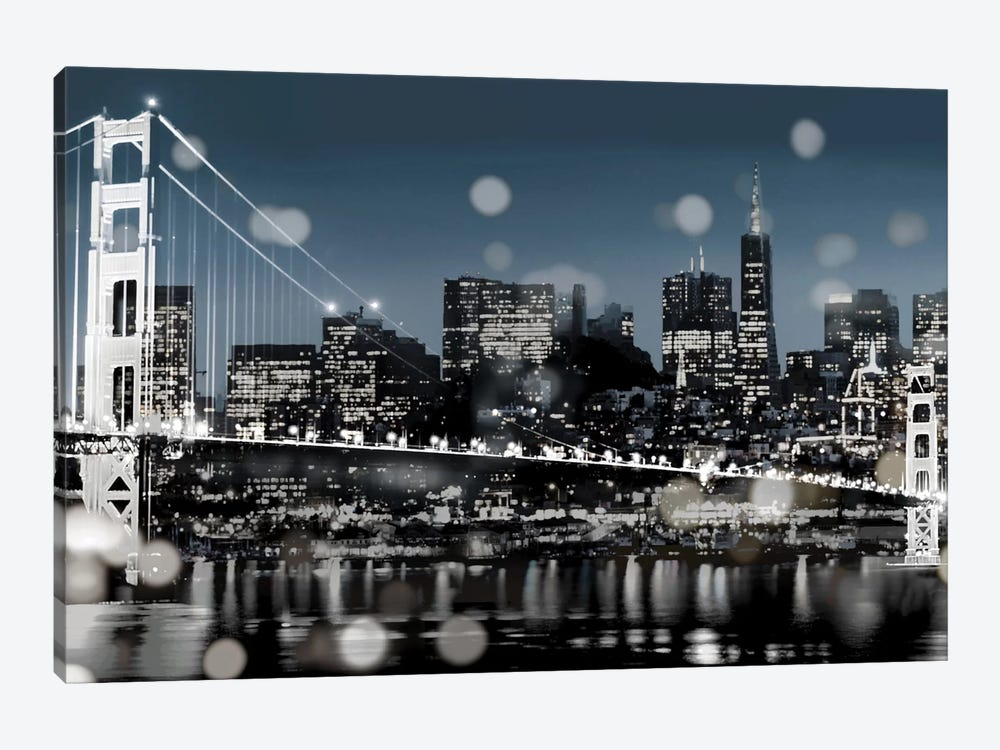 The City-San Francisco by Kate Carrigan 1-piece Canvas Art Print