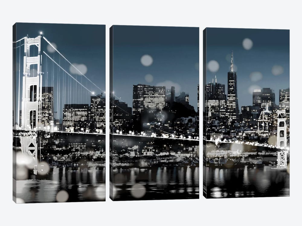 The City-San Francisco by Kate Carrigan 3-piece Canvas Print