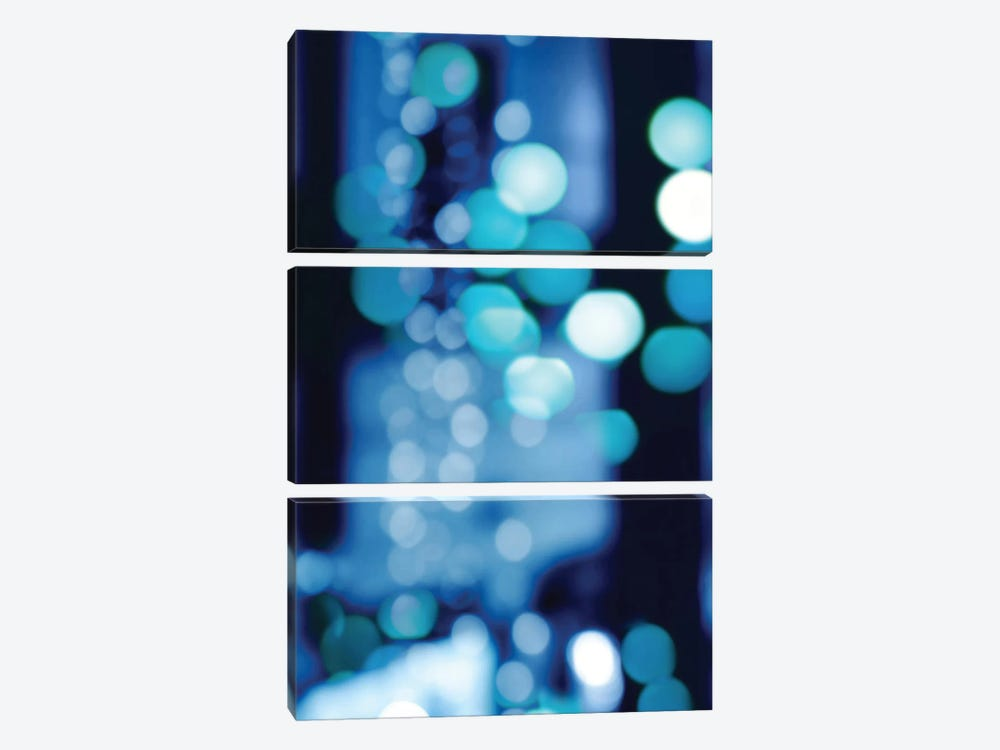 Brilliant Blue Triptych I by Kate Carrigan 3-piece Canvas Wall Art