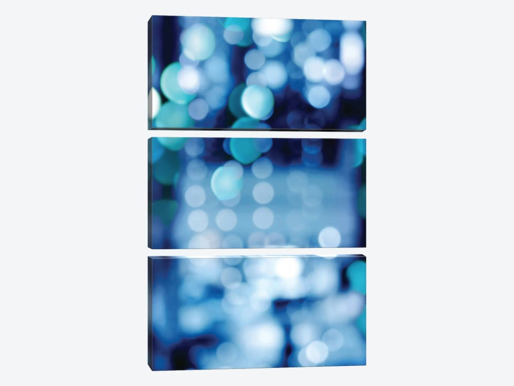 Brilliant Blue Triptych II by Kate Carrigan 3-piece Canvas Art Print