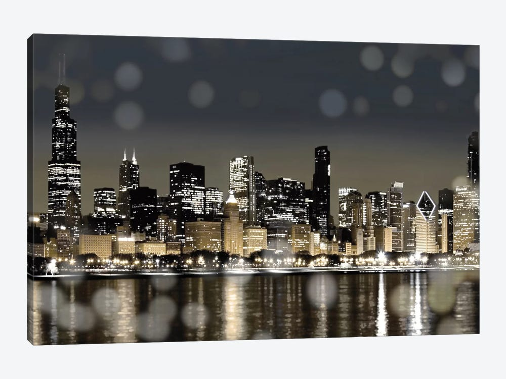 Chicago Nights I by Kate Carrigan 1-piece Art Print