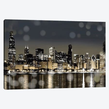 Chicago Nights I Canvas Print #KAC7} by Kate Carrigan Art Print