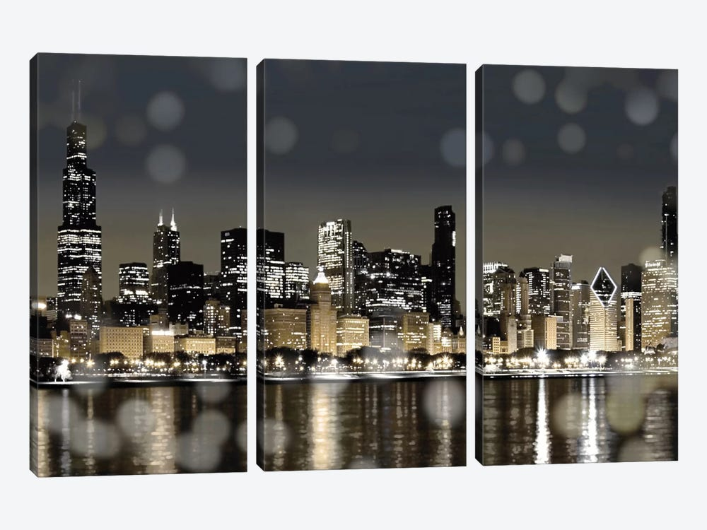Chicago Nights I by Kate Carrigan 3-piece Art Print