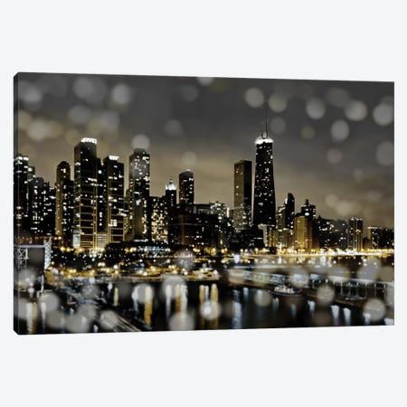 Chicago Nights II Canvas Print #KAC8} by Kate Carrigan Canvas Artwork