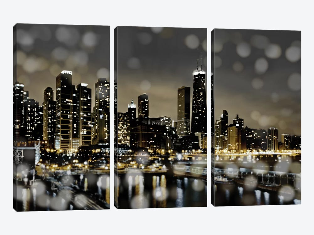 Chicago Nights II by Kate Carrigan 3-piece Canvas Wall Art