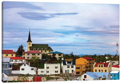 Icelandic Township Canvas Art Print
