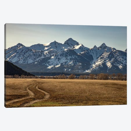 Road To The Tetons Canvas Print #KAD22} by Sarah Kadlecek Canvas Print