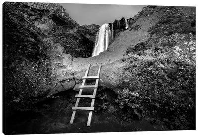 Iceland Climb In B&W Canvas Art Print