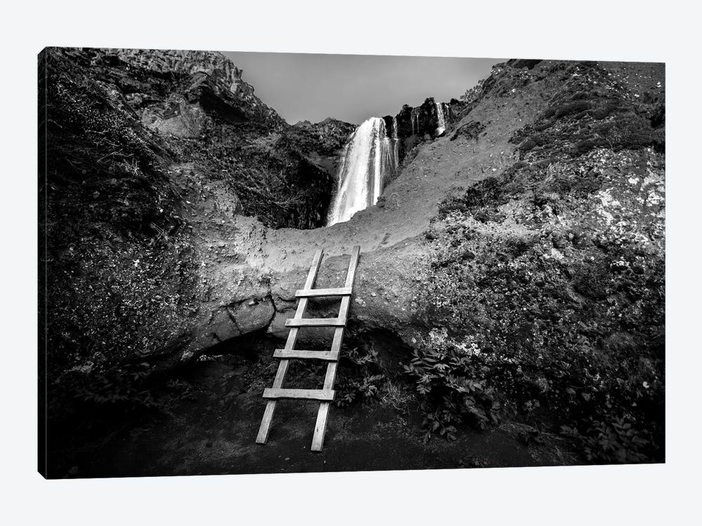 Iceland Climb In B&W by Sarah Kadlecek 1-piece Canvas Artwork