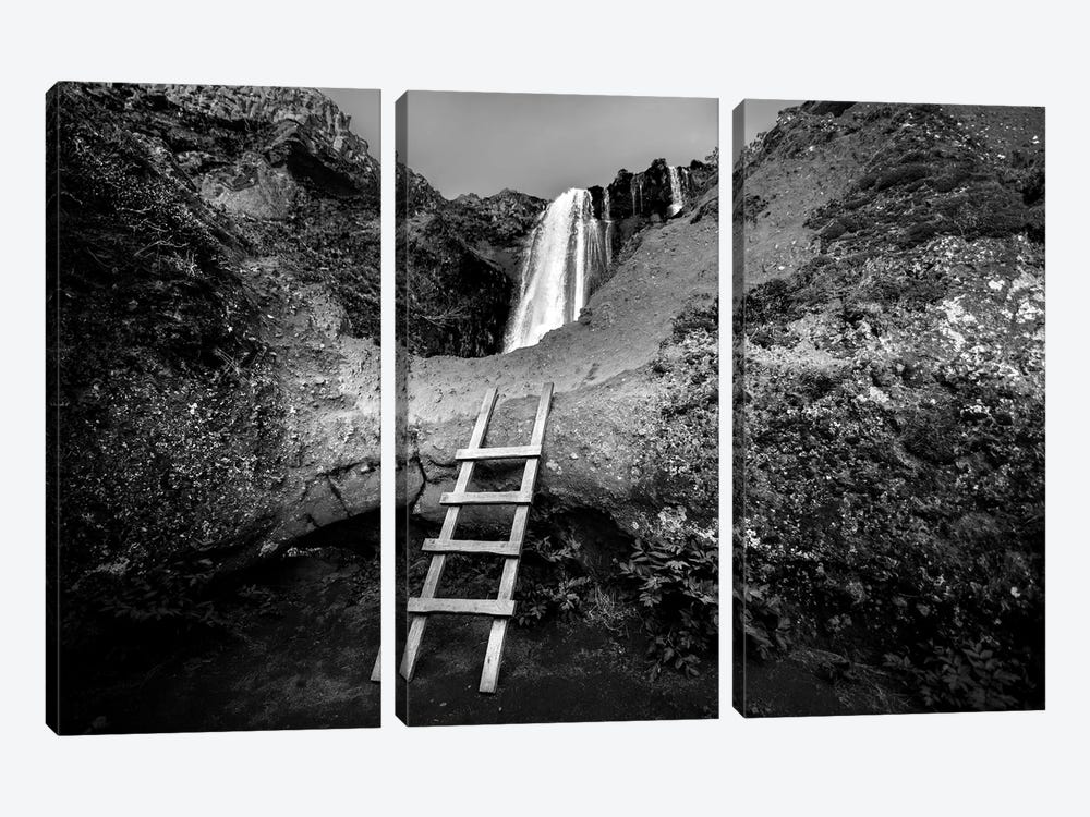 Iceland Climb In B&W by Sarah Kadlecek 3-piece Canvas Art
