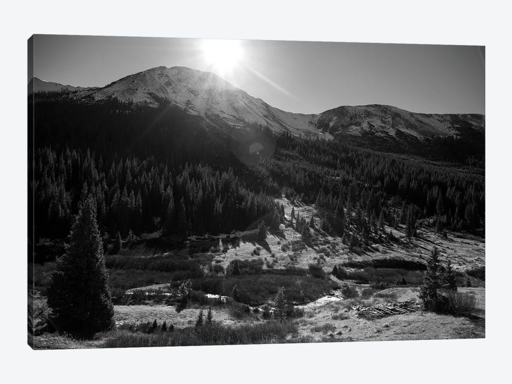 Independance Pass In B&W by Sarah Kadlecek 1-piece Canvas Wall Art