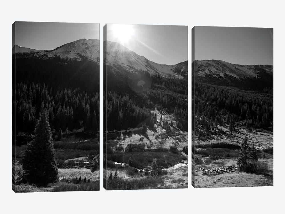 Independance Pass In B&W by Sarah Kadlecek 3-piece Canvas Artwork