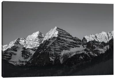 Maroon Peak II In B&W Canvas Art Print