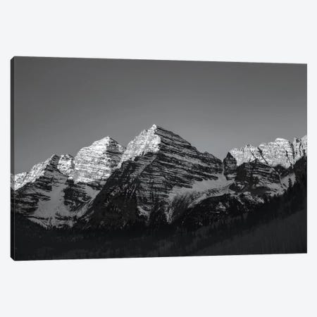 Maroon Peak II In B&W Canvas Print #KAD47} by Sarah Kadlecek Canvas Wall Art