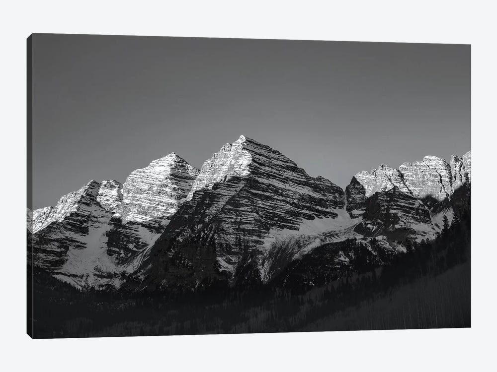 Maroon Peak II In B&W by Sarah Kadlecek 1-piece Canvas Wall Art