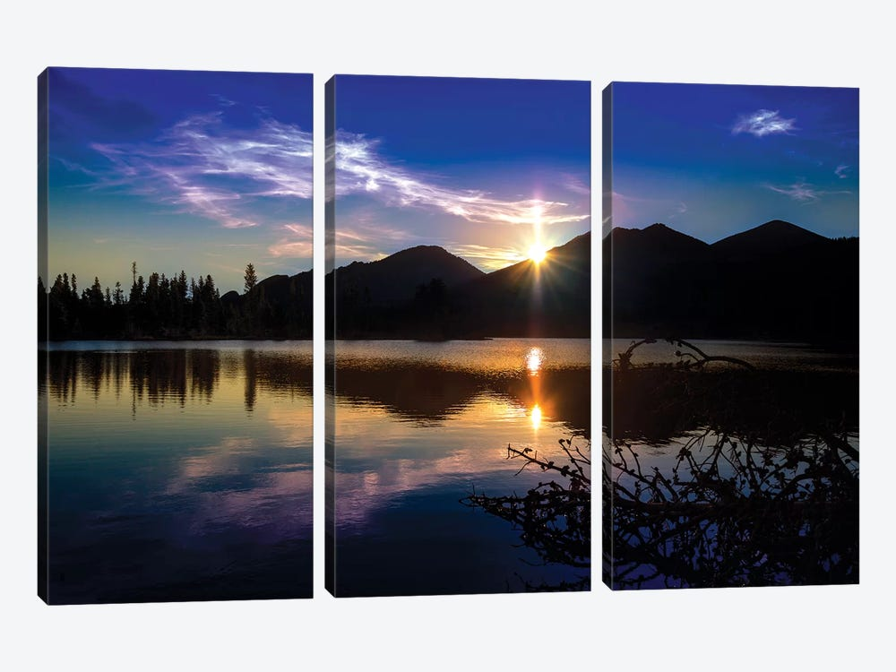 Sprague Lake by Sarah Kadlecek 3-piece Canvas Art Print