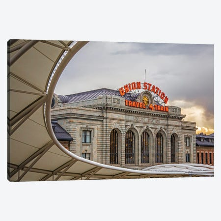 Denver, Union Station Canvas Print #KAD49} by Sarah Kadlecek Art Print