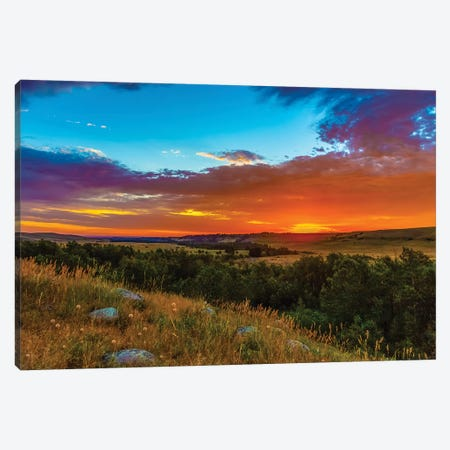 Montana Sunrise Canvas Print #KAD53} by Sarah Kadlecek Canvas Wall Art