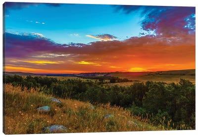 Montana Sunrise Canvas Art Print