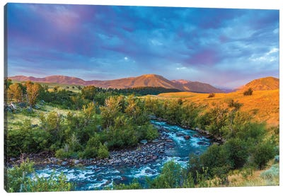 Stillwater River Montana Canvas Art Print