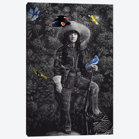 Scout With Songbirds Canvas Print #KAE15} by Kaetlyn Able Canvas Art