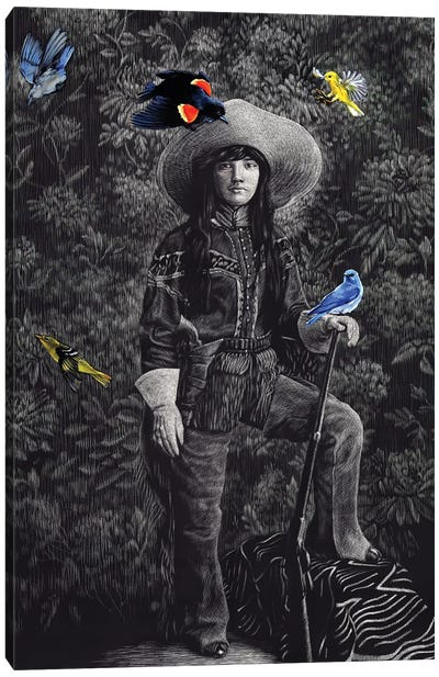 Scout With Songbirds Canvas Art Print