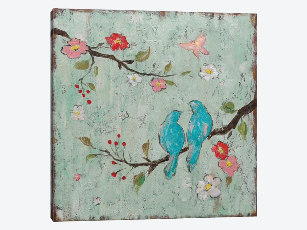 Love Birds I by Katy Frances 1-piece Canvas Wall Art