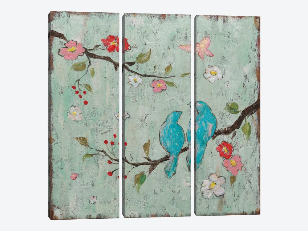 Love Birds I by Katy Frances 3-piece Canvas Wall Art