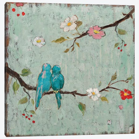 Love Birds IV Canvas Print #KAF3} by Katy Frances Canvas Art Print