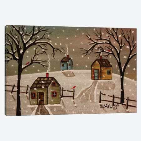 Light Snow Canvas Print #KAG182} by Karla Gerard Canvas Artwork