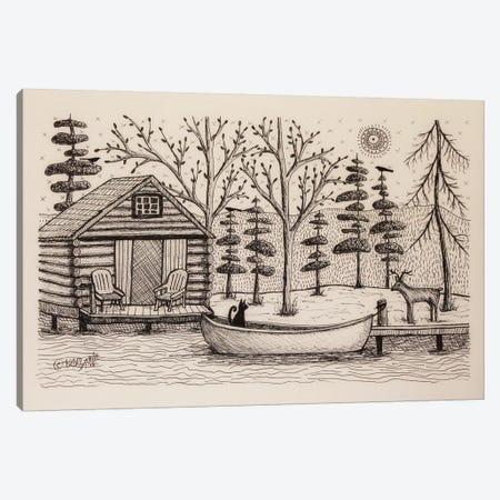 Log Cabin Canvas Print #KAG185} by Karla Gerard Art Print