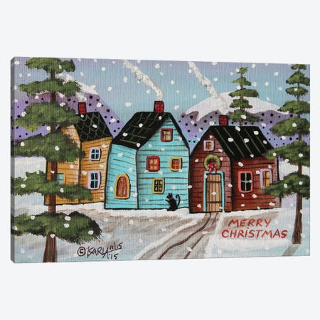 Merry Christmas I Canvas Print #KAG189} by Karla Gerard Canvas Wall Art