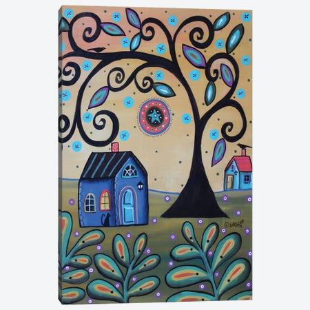 Mixed Media Blue House Canvas Print #KAG191} by Karla Gerard Canvas Art Print