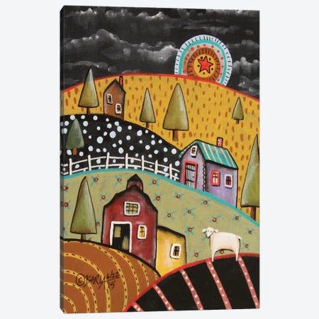 Night Barn I 3-Piece Canvas #KAG201} by Karla Gerard Canvas Art Print