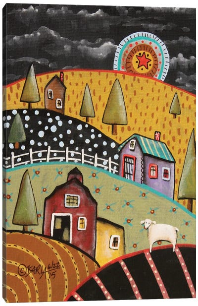 Night Barn I Canvas Art Print