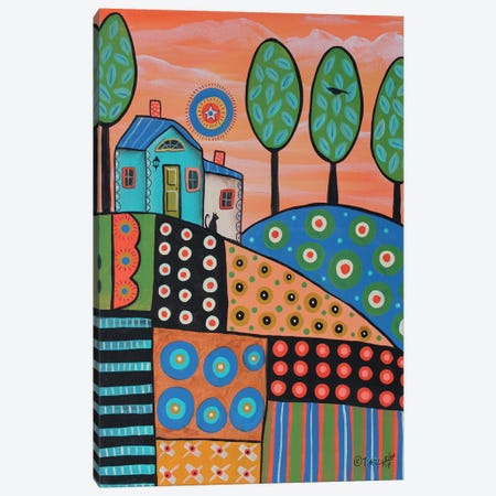 Peachy Landscape 3-Piece Canvas #KAG226} by Karla Gerard Canvas Wall Art