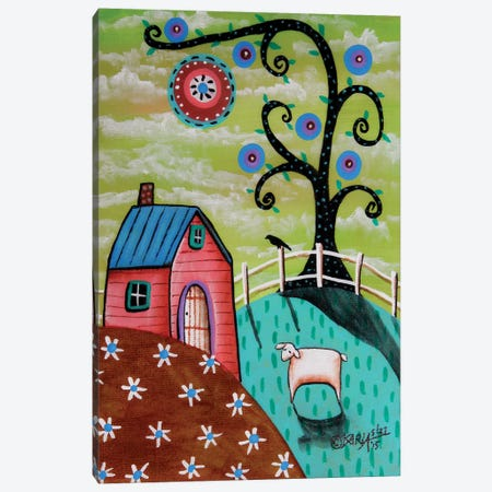 Pink House Canvas Print #KAG231} by Karla Gerard Canvas Wall Art