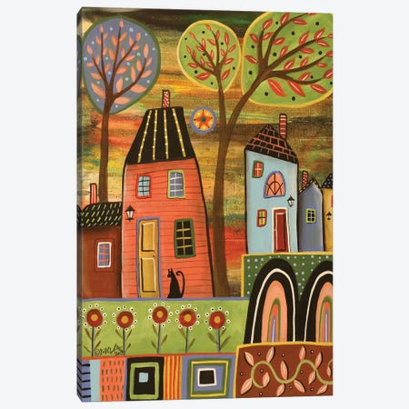 Pink House Landscape Canvas Print #KAG232} by Karla Gerard Canvas Wall Art