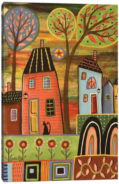Pink House Landscape Canvas Art Print