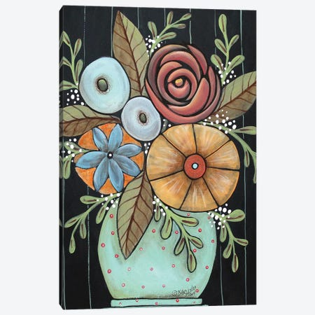 Prim Floral Canvas Print #KAG237} by Karla Gerard Canvas Art Print