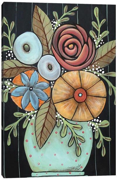 Prim Floral Canvas Art Print