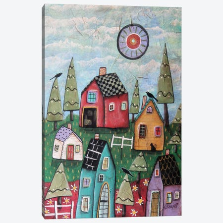 Prim Village I Canvas Print #KAG239} by Karla Gerard Canvas Artwork