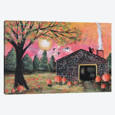 Pumpkin Barn I Canvas Print #KAG241} by Karla Gerard Art Print