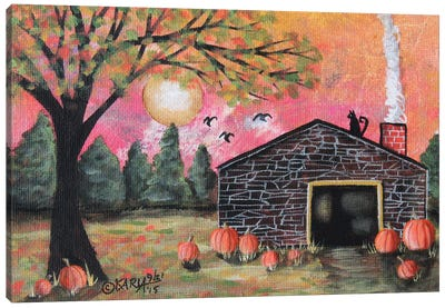 Pumpkin Barn I Canvas Art Print