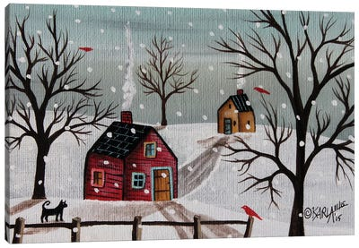 Red Birds I Canvas Art Print